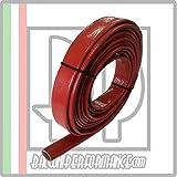 Guaina protezione tubi vano motore Auto. Resistenza calore raggi UV olio benzina, Colore ROSSO, diametro disponibile da 1 mm a 25 mm, venduto al metro (ID 14 mm)