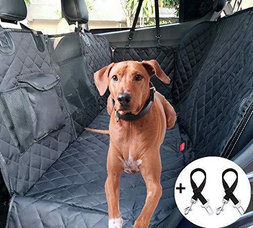 Cadosoigh Coprisedile per Cani Posteriore Universale per Sedile dell\'Auto per Animali Domestici Impermeabile Spesso Resistente con Rete di Prospettiva e Sacchetto