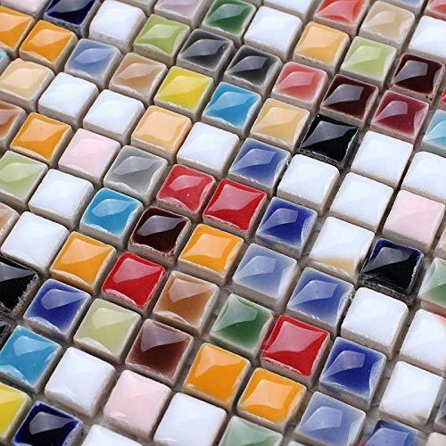 Multi Colored Ceramic Mosaic Tiles. 6 Sheets