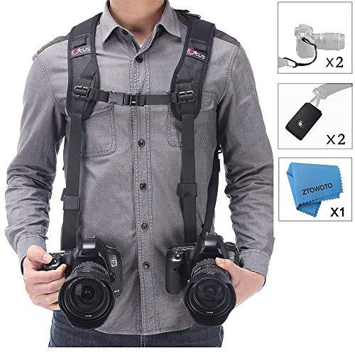 Tracolla doppia fotocamera imbracatura doppia fotocamera cinghia...
