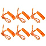 KASUNEN Safety Whistle Marine Whistle with Lanyard (6 Pack) for Boating Camping Hiking Hunting Emergency Survival Rescue