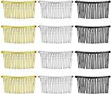 Zuzer 20pcs Peines de Pelo Hair Comb Slides Plástico Peinetas Cabello Clips de Pelo para Cabello Fino y Velo de Novia