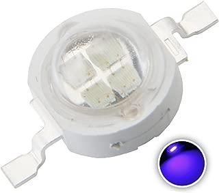 Chanzon 10 pcs High Power Led Chip 5W Blue (600mA-700mA/DC 6V-7V/5 Watt) Super Bright Intensity SMD COB Light Emitter Components Diode 5 W Bulb Lamp Beads DIY Lighting
