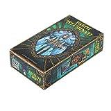 healthwen Juego de Mesa Tarot Tarot Illuminati Kit Simple de dominar La Vida Inspirada única da a Las Cartas un Buen resbalón
