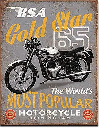 "BSA Gold Star Metal Sign Home Wall Tin Sign 8""X12"" Decoration"