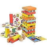 Giochi Bambini 3 Anni, Giochi da Tavolo per Bambini, Giocattolo Torre Impilabile in Legno con Animali Colorati, Giochi Educativi Giochi per Famiglie adatti Bambine e Bambini da 3 a 9 Anni