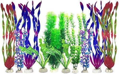 JKGHK Aquariumdecoratie Kunstmatige aquariums Planten Plastic aquariumplanten voor aquariumdecoraties verpakking van 10