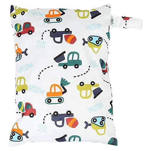 Waterdichte Draagbare Luiertas Grote capaciteit luiertassen Organizer Houder Leuke Cartoon Print Baby Doek Luiers Handtassen met Opknoping Touw Glad Rits voor Baby Care Auto