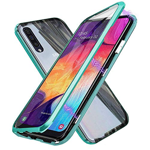 TENGMAO Metal Magnetic Case for iphone 11 pro Phone Case with Double Side Tempered Glass Metal Frame 360 Magnet Flip Cover Full Body Protective Front and back cover
