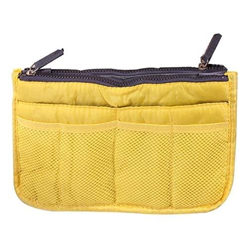 Sac cosmétique Sac de Maquillage Organisateur Voyage Portable Pouch beauté Fonctionnelle Sac de Toilette Maquillage Maquillage Organisateurs Téléphone Sac Case (Color : Yellow)