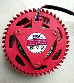 iiFix Brand New For ATI Video Card HD 4870 5970 5870 5850 4890 5450 5650 4350 Replacement 75mm fan