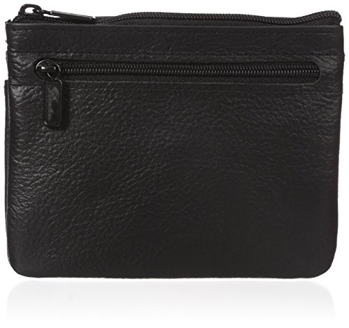 Buxton Women's Large Id Coin/Card Case, Black, One Size