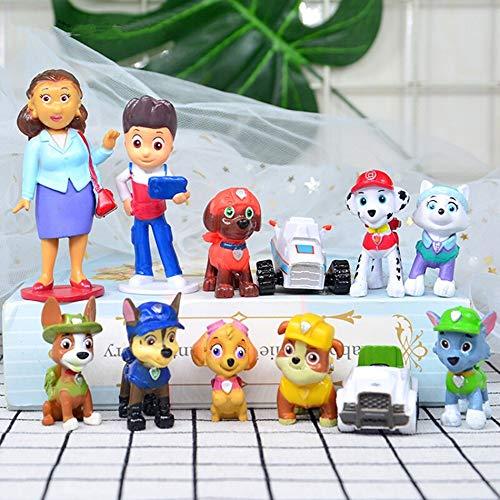 12PCS paw patrol cake topper, paw patrol Cake decoration, paw patrol Children mini toys and Shower Birthday party supplies
