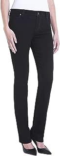 Liverpool Women's Petite Sadie Straight in Perfect Black Denim Jeans Black Rinse