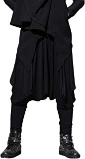 Men Casual Black Loose Baggy Elastic Waist Harem Pants Trousers GYM22 A