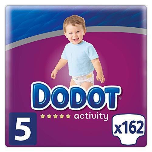 Dodot Activity - Pañales Talla 5 (11-16kg), 162 Pañales