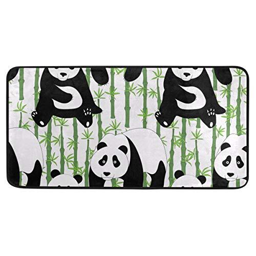 Bardic anti-slip deurmat Mooie Panda Bamboe Deurmat Machine Wasbare Slaapkamer Mat Voor Woon-Dineren Kamer Slaapkamer Keuken,50.8x99cm