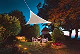 Voile d'ombrage led solaire