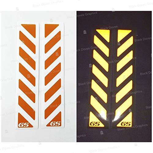 2pz Rifrangenti Strisce Adesivi compatibili con TOURATECH Valigie LATERALI di R 1200 1150 F 800 650 F700 GS A R1200GS R1200 R1250GS Motorrad ADVENTURE