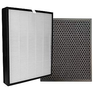 Comedes Set di filtri di ricambio adatto ai purificatori d'aria Philips AC3256, AC3259 e AC4550   HEPA e filtro a carbone attivo   utilizzabile al posto di Philips FY3432/10 e FY3433/10