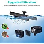 UTOPB Upgraded Solar Fountain Pump, 1.5W Free Standing Floating Solar Powered Fountain Pump Kit Submersible Outdoor, for Bird Bath, Small Pond, Swimming Pool, Garden 8