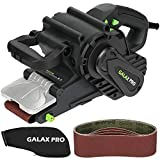 GALAX PRO 1010W Belt Sander, Cord Sander with Variable Speed ??Settings 120-380 RPM, 5Pcs Sanding Belts (76 x 533 mm) and Dust Bag