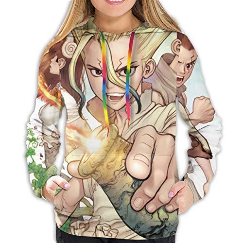 AOOEDM Women's Hoodie Dr. Stone Sudaderas con Capucha de Manga Larga para Mujer Abrigo con Bolsillo