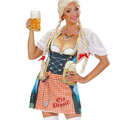 NET TOYS Bayern Frau Schürze Oktoberfest Grillschürze Gag Trachtenschürze Fun Kochschürze SIE Bayerische Party Küchenschürze Tracht Kostüm Zubehör
