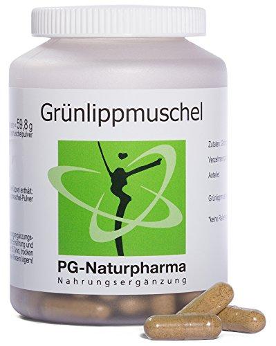 Groenlipmosselcapsules - 120 capsules - 400mg groenlipmosselpoeder per stuk - hoge dosering - zonder magnesiumstearaat & additieven - minstens 2% glucosamineglucaan en 6mg omega-3 vetzuren - uit Duitsland