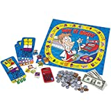 Set prices, buy and sell items, and learn the value of money as you move around the game board Reinforces the importance of coin and bill recognition, adding, and making correct change through interactive game play Includes game board, calculator, ga...