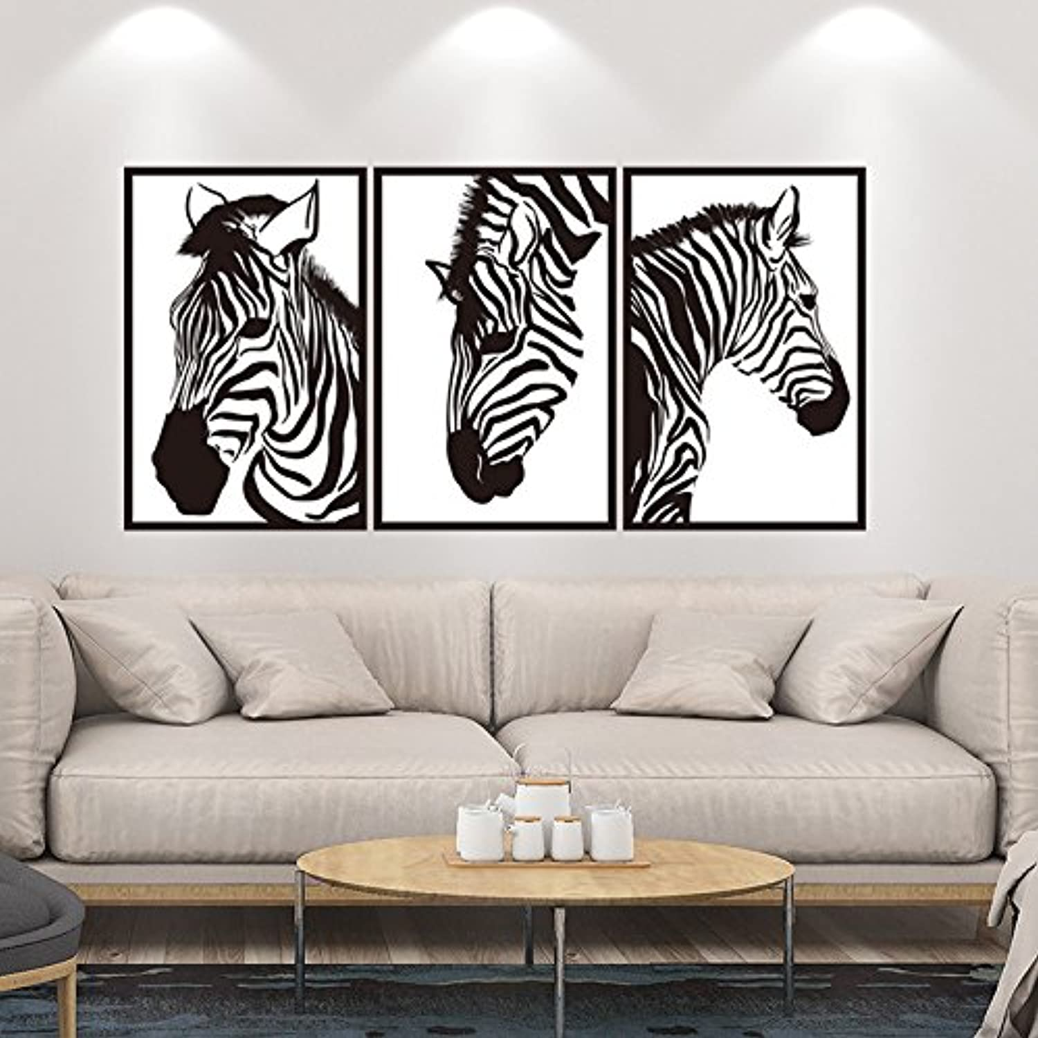Znzbzt Creative Bedroom Living Room Wall Posters self Adhesive Wall Stickers Wall Decals, Zebra
