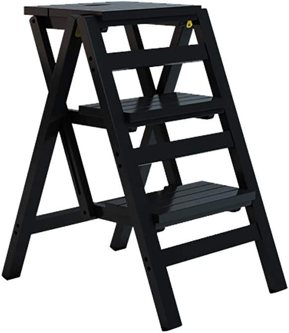 Zfusshop Solid Wood 3 Step L Multifunctional Wooden Ladder OFFicial Ranking TOP10 store Chair