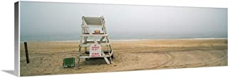 GREATBIGCANVAS Gallery-Wrapped Canvas Lifeguard Chair on The Beach, Montauk, New York State by 36