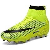 LIANNAO Chaussures de Football Entrainement Homme Adolescents Chaussures High Top Chaussures de Sport Adulte Professionnel Antidérapant Athlétisme Unsisexe,43 EU,Vert