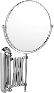 LIOOBO Specchio da Parete a Specchio Girevole Orientabile 3X Ingrandimento da 6 Pollici Specchio da Trucco Specchio da Parete Estensibile a Due Lati Retrattile per Bagno Specchio da Parete