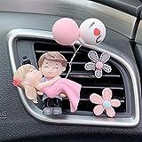 sdfpj Bella Coppia Girl Boy Figurine Figurine Profumo Clip Car Air Vent Deodorante Profumo Aromas Diffusore Decor Auto Interno Accessori (Color Name : Hug Couple Flower)