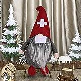 EKKONG Ostern Weihnachten Deko Wichtel 25 cm Hoch,Schwedischen Weihnachtsmann Santa, Schwedische Wichtel Santa Dolls, Süße Weihnachten Figur aus Weihnachtsfigur Dwarf Weihnachts Deko