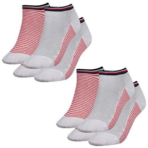Tommy Hilfiger Damen Sneaker Resort 4er Pack, Größe:39-42, Farbe :White/Ribbon Red (435)