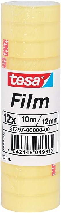 Tesa Film Adhesive Tape Large Roll Standard Pack Of 10 Baumarkt