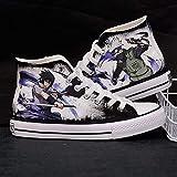 Csqw Naruto Naruto Sasuke Pandilla Alta Zapatillas de Lona para Zapatillas de Deporte Unisex para niños y Adolescentes Zapatillas de cosplay-41