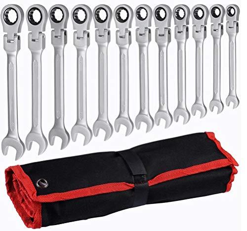 HYCy ® 12 pièces Flexibles Combinaison clé à Rochet Combinaison réparation Ensemble d'outils à Main pour clé dynamométrique