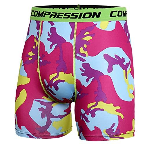 Pantalones cortos y leggings de verano para hombre, transpirables, de secado rápido, para fitness, camuflaje, sencillos y modernos, adecuados para ciclismo y jogging. rojo XL