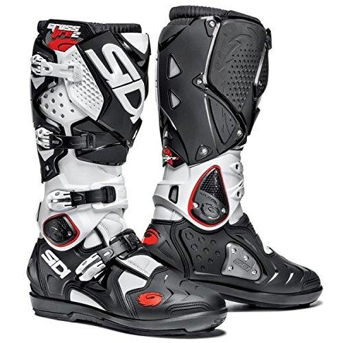 Sidi Stiefel Moto Cross Crossfire 2SRS Schwarz Weiß 43