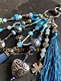 Schlüsselanhänger - Soft Blue, Taschenbaumler, Charms, keyfob, keychain, Handtasche,...