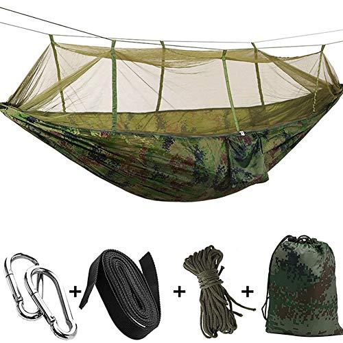 Ti-Fa Hamac avec moustiquaire, Double Filet de Camping imperméable et léger 300 kg Capacité de Charge,(260 x 140 cm) Nylon à Parachute pour Jardin d'interieur/extérieur