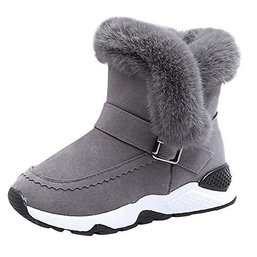 Botas Medias Unisex de Niñas Niños Botas de Nieve Botas Niña Zapatos de Bebé Invierno de Algodón Botines Niña Acogedor Botines Infantiles Suela de Goma Estilo Simple