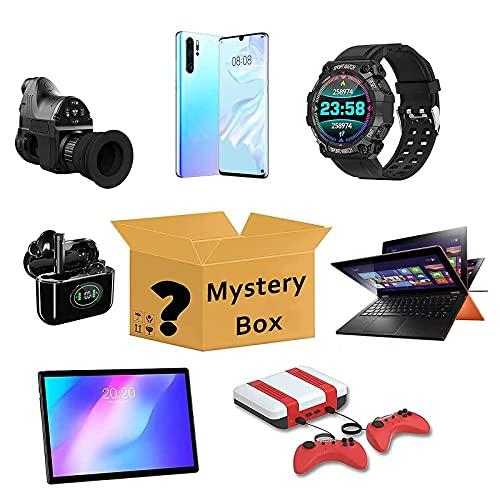 Lievevt Caja misteriosa Mystery Box, Mystery Box Electronics, Box de sorpresa, Equipo electrónico, probablemente obtendrá: Teléfono Drone Smart Watch Auriculares Bluetooth Cualquier Caja de Regalo Pos