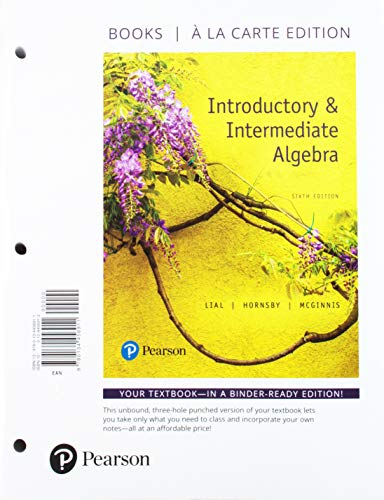 Introductory and Intermediate Algebra, Books a la Carte Plus MyLab Math -- 24 Month Access Card Package