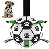 Dog Football Toys, IOMOY Dog Fetch Training Toy Durable Interactive Football Toy for Tug Games & Bonding Exercises Suitable as a Puppy Toy