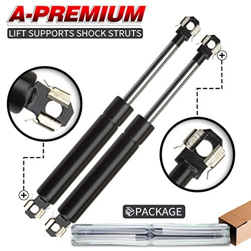 A-Premium Hood Bonnet Lift Supports Shock Struts for Lincoln Town Car 1986-1989 Mark VI Continental With Aluminum Hood 2-PC Set